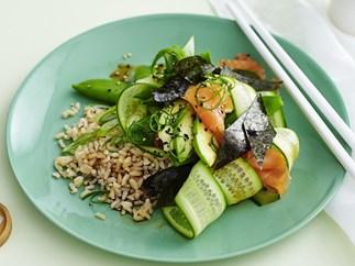 sushi-style smoked salmon salad