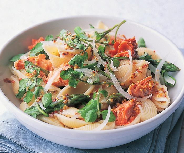 asparagus and salmon pasta salad