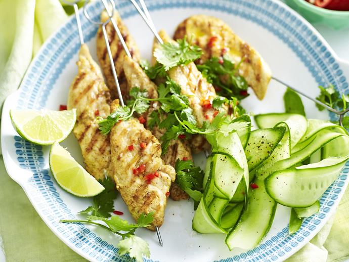 "**[Satay chicken skewers](https://www.womensweeklyfood.com.au/recipes/satay-chicken-skewers-5820|target=""_blank"")**  Make your own version of the popular Asian-style satay chicken starter dish to impress your family and friends."