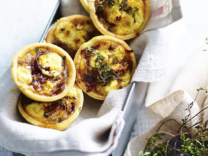 "These easy [chicken and asparagus quiches](https://www.womensweeklyfood.com.au/recipes/mini-chicken-and-asparagus-quiches-5828|target=""_blank"") make a wonderfully filling entree or sophisticated canape."