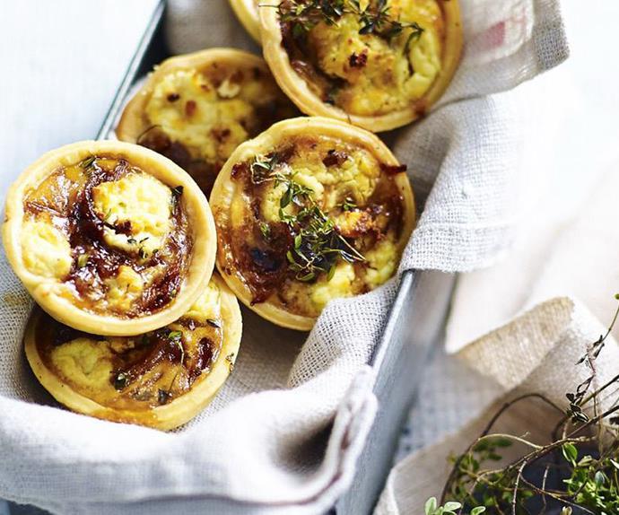 mini chicken and asparagus quiches recipe