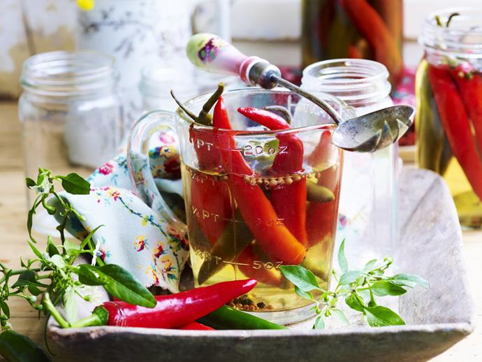 "It's getting hot in here, because [chillies](https://www.womensweeklyfood.com.au/chilli-recipes-31767|target=""_blank"") are in season.   Chillies are well known for making great sauces and condiments, whether you prefer [chilli jam](https://www.womensweeklyfood.com.au/recipes/chilli-jam-17316