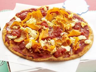 pumpkin and fetta pizzas
