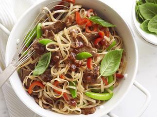 chilli jam beef noodles