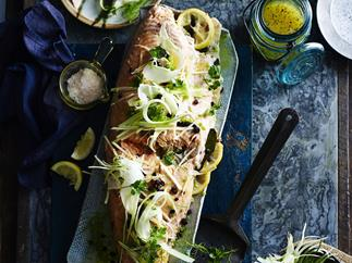 ROAST SALMON WITH FENNEL & APPLE SALAD