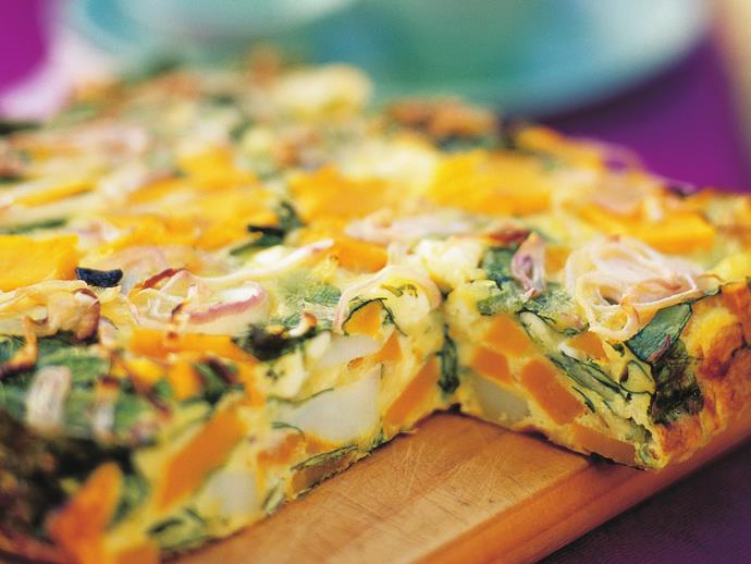 "**[Pumpkin, spinach and fetta frittata](https://www.womensweeklyfood.com.au/recipes/pumpkin-spinach-and-fetta-frittata-15411|target=""_blank"")**  With a side salad and crusty bread, this delicious frittata makes a satisfying and delicious [vegetarian](https://www.womensweeklyfood.com.au/vegetarian