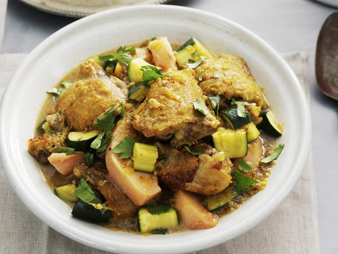 """**[Quince and chicken tagine](https://www.womensweeklyfood.com.au/recipes/quince-and-chicken-tagine-13359