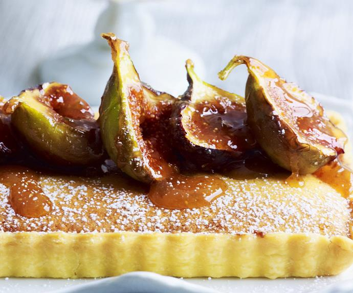frangipane tart with caramelised figs