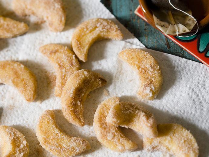 "**[Leche frita](https://www.womensweeklyfood.com.au/recipes/leche-frita-fried-milk-13388|target=""_blank"")** are deep-fried custard shapes tossed in cinnamon sugar."