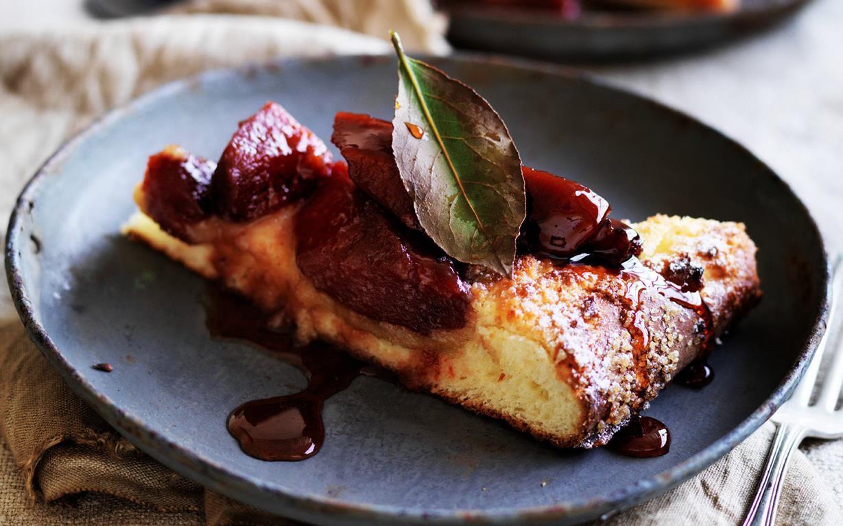 Quince Brioche Cake