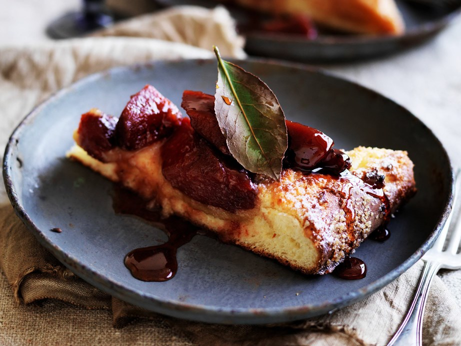 """Butter soft [quince brioche cake](https://www.womensweeklyfood.com.au/recipes/quince-brioche-cake-28517