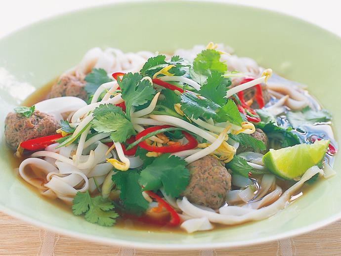 """**[Meatball pho](http://www.womensweeklyfood.com.au/recipes/meatball-pho-5763 target=""""_blank"""")**"""