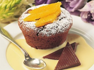 chocolate orange dessert muffins