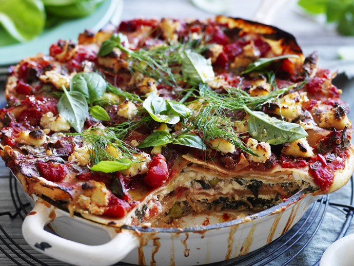 pea, fennel & spinach lasagne