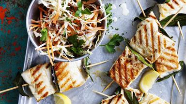 Fillet of snapper with root vegetable slaw