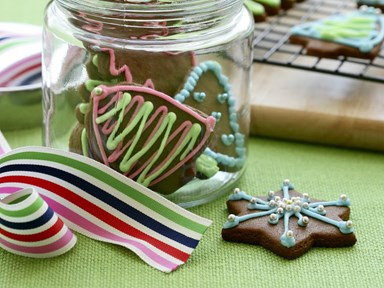 Christmas gingerbread biscuits