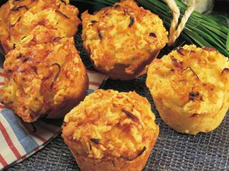 crusty onion and cheese muffins