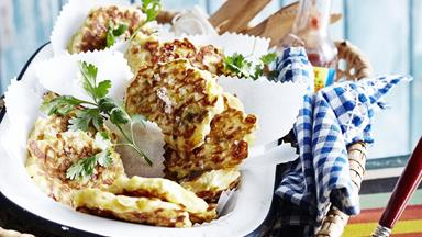Jalapeño & cheddar corn fritters