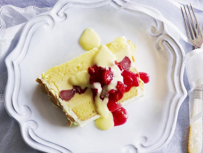 "[Vanilla and rhubarb slice recipe.](http://www.foodtolove.com.au/recipes/vanilla-and-rhubarb-slice-20317|target=""_blank"")"