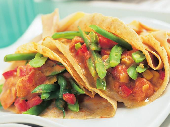"""**[Buckwheat crepes with spicy green bean filling](https://www.womensweeklyfood.com.au/recipes/buckwheat-crepes-with-spicy-green-bean-filling-13557