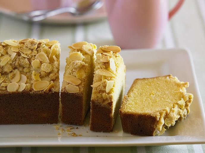 "**[Lemon crumble loaf](https://www.womensweeklyfood.com.au/recipes/lemon-crumble-loaf-13561|target=""_blank"")**"