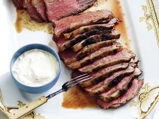 barbecued beef sirloin with sweet ginger rub