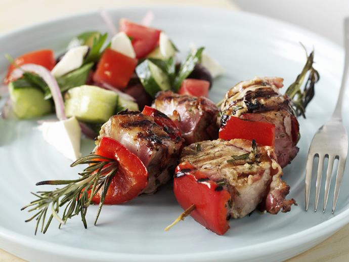 "**[Pork fillet and pancetta kebabs](https://www.womensweeklyfood.com.au/recipes/pork-fillet-and-pancetta-kebabs-5657|target=""_blank"")**"