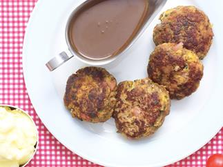 old-fashioned rissoles with gravy