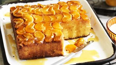 Upside-down mandarin polenta yoghurt cake