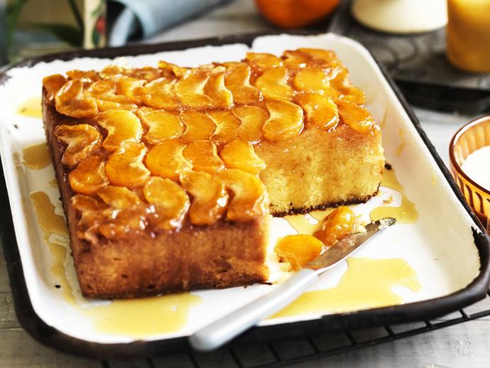 "**[Upside-down mandarin polenta yoghurt cake](https://www.womensweeklyfood.com.au/recipes/upside-down-mandarin-polenta-yoghurt-cake-13590|target=""_blank"")**  This delicious and impressive looking mandarin upside-down cake is a little tricky to make but is oh so worth it. Better still it is gluten-free so everyone can enjoy it. Use a microplane to zest the fruit for best results."