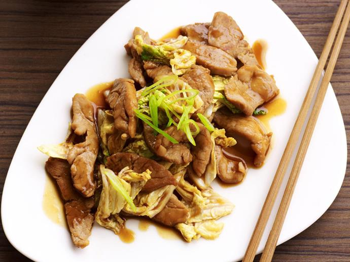 "The incredible fragrance and flavour of fresh ginger permeates this lovely [stir-fry of tender pork strips and cabbage](https://www.womensweeklyfood.com.au/recipes/stir-fried-pork-and-ginger-cabbage-13613|target=""_blank"")."