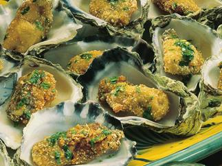 deep-fried oysters with chilli dressing