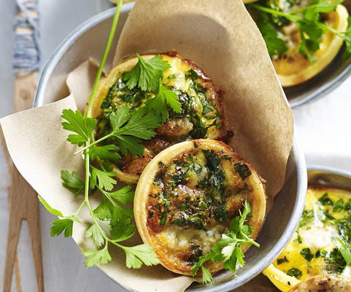 MINI BLUE CHEESE QUICHES