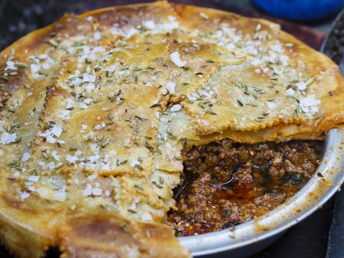 "[Lamb, spinach and feta pie](https://www.womensweeklyfood.com.au/recipes/lamb-spinach-and-fetta-pie-13697|target=""_blank"")"