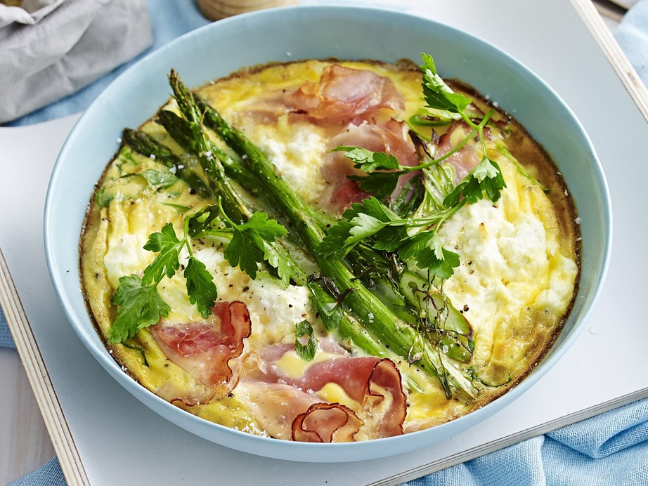 "Serve this gorgeous [breakfast frittata](https://www.womensweeklyfood.com.au/recipes/breakfast-frittata-13104|target=""_blank"") with hot buttered toast for a speedy breakfast, loaded with flavour."