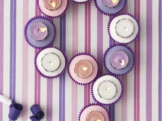 nine birthday candles