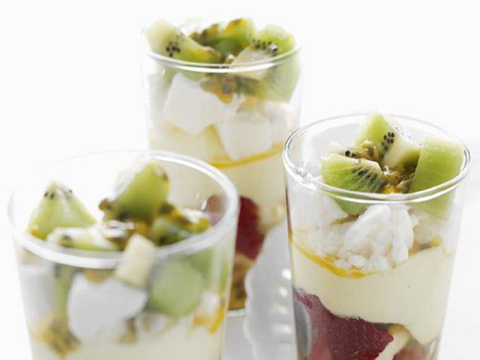 """**[Pavlova trifles](https://www.womensweeklyfood.com.au/recipes/pavlova-trifles-5557