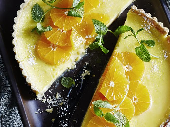 """**[Tangelo tart with tangelo salad](https://www.womensweeklyfood.com.au/recipes/tangelo-tart-with-tangelo-salad-13159