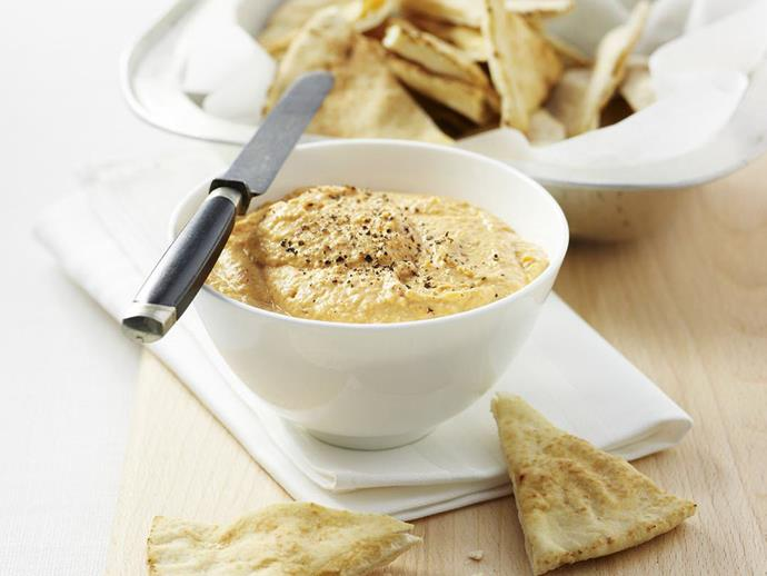 """**[Capsicum hummus](https://www.womensweeklyfood.com.au/recipes/capsicum-hummus-13160