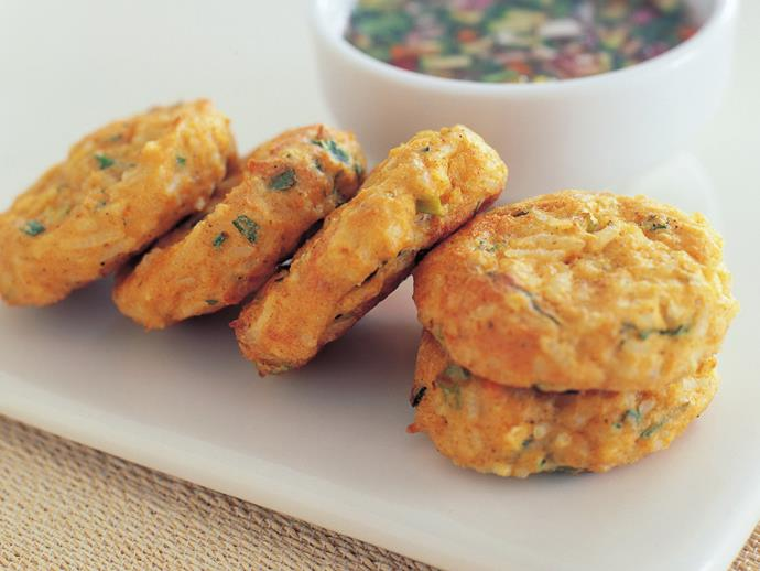"These crispy [tofu cakes and dipping sauce](https://www.womensweeklyfood.com.au/recipes/tofu-cakes-with-sweet-chilli-dipping-sauce-13179|target=""_blank"") make a great starter or snack. Easy to and cheap to prepare, you can't go wrong with this zingy dish."