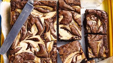 Gluten-free chocolate cheesecake brownie