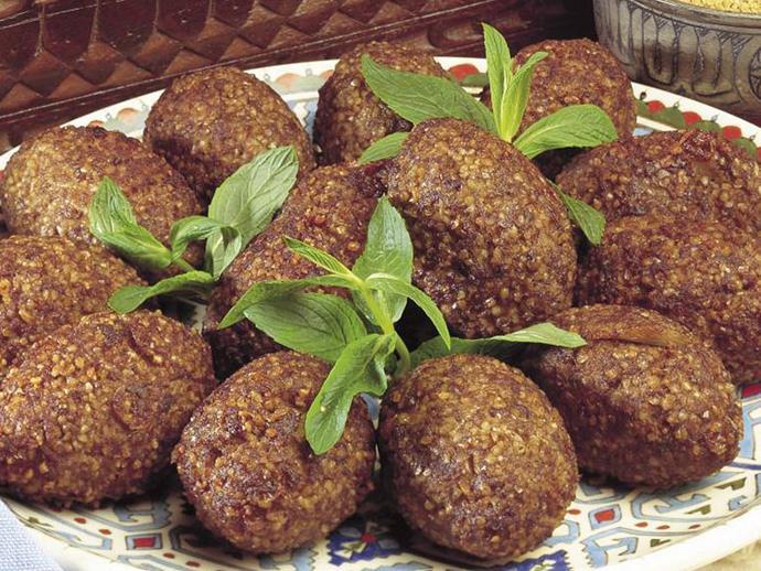 "[Fried kibbeh balls](https://www.womensweeklyfood.com.au/recipes/fried-kibbeh-balls-13287|target=""_blank"")"