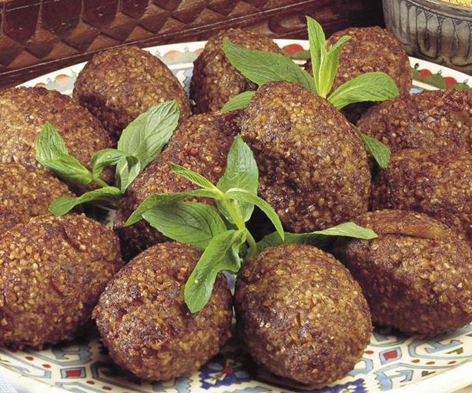 fried   kibbeh balls