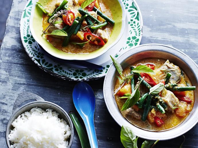 "**[Slow-cooked red pork curry](https://www.womensweeklyfood.com.au/recipes/slow-cooked-red-pork-curry-5421|target=""_blank"")**  This simple recipe creates big flavours in no time thanks to the slow cooker."