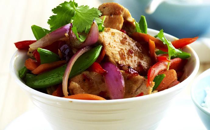 sweet chilli chicken stir-fry