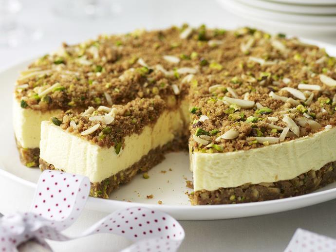 "**[Baklava cheesecake](https://www.womensweeklyfood.com.au/recipes/baklava-cheesecake-12760|target=""_blank"")**"