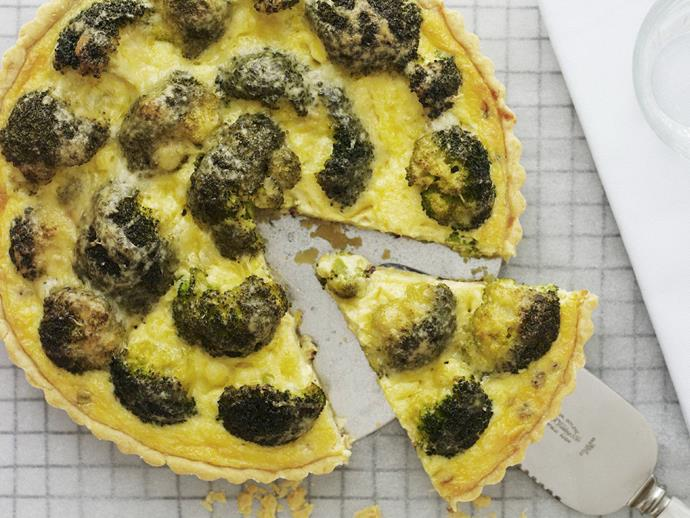 "**[Lemon and mustard broccoli flan](https://www.womensweeklyfood.com.au/recipes/lemon-and-mustard-broccoli-flan-5247|target=""_blank"")**"
