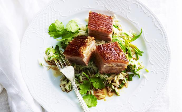 twice cooked asian pork belly