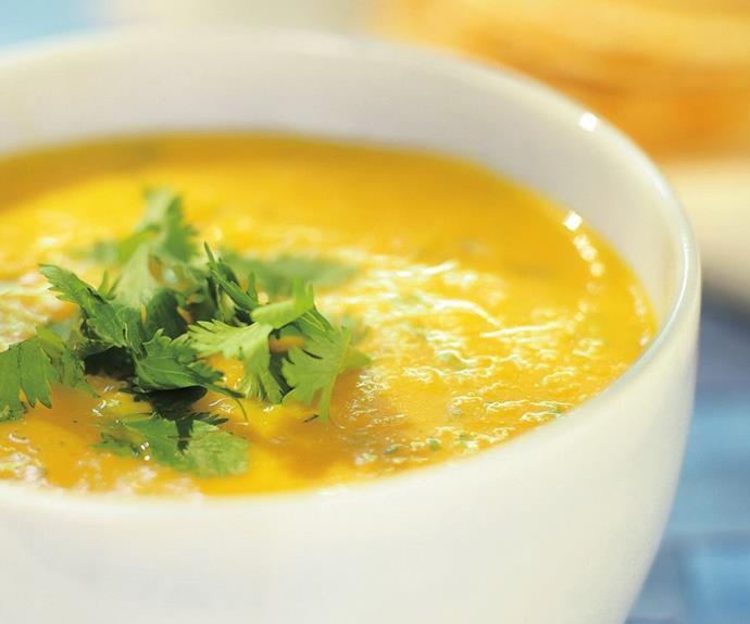 tofu and pumpkin soup