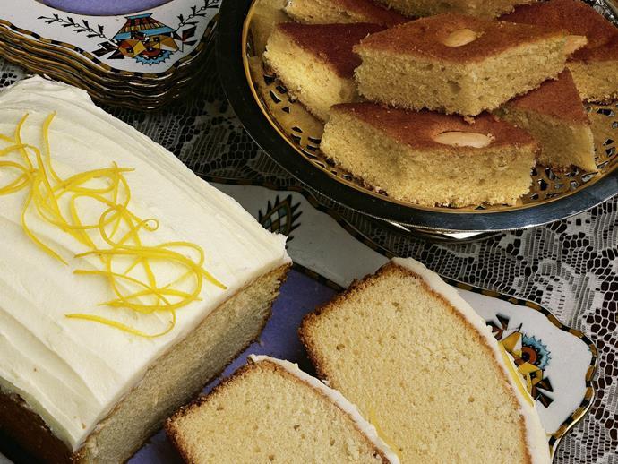 "**[Sour cream butter cake](https://www.womensweeklyfood.com.au/recipes/sour-cream-butter-cake-5288 target=""_blank"")**"